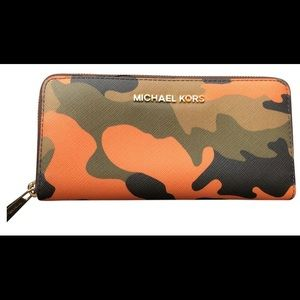 Authentic michael kors camouflage wallet